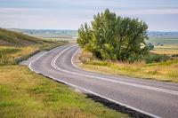 Nebraska highway through Mitchell Pass