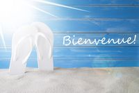 Sunny Summer Background, Bienvenue Means Welcome