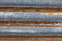 Rusty old corrugated sheet iron