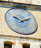 Clock tower detail. Sighisoara, Romania