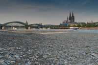 Drought in Germany, low water on Rhine river