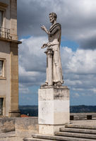 Greek philosophy statue outside Literature department of University of Coimbra