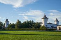Seating courtyard (Gostiny Dvor). Tobolsk Kremlin. Tobolsk. Russia.