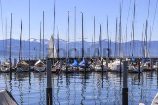 Yachthafen, Lindau Insel, Bodensee, Landschaftsbild