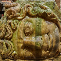 Gorgon Medusa head in Basilica Cistern