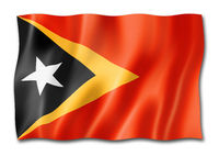 East Timor flag isolated on white