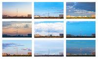 the one skyline in various seasons