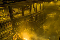 Electric arc furnace. Steel melting plant