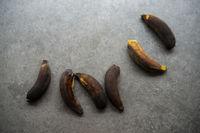 Rotten bananas, overripe