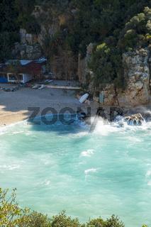 High Angle Mermaid Beach Kas Turkey V