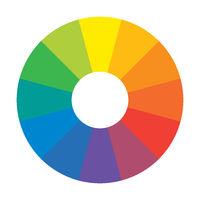 Multicolor Spectral Rainbow Circle of 12 segments. Spectral harmonic palette.
