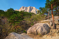 Ulsanbawi rock in Seoraksan National Park, South Korea