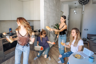 group of women in the kitchen