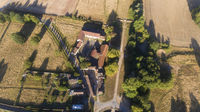 Aerial view of Courson, Essonne, France