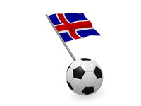 Soccer ball with the flag of Iceland