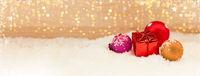 Weihnachten Hintergrund Header mit Geschenk
