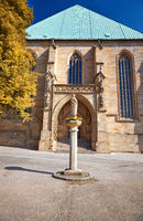 Back part of the Erfurt Cathedral and Collegiate Church of St Mary, Erfurt, Germany.