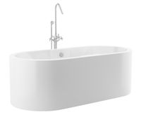 modern bathtub isolated on white background. 3d illustration