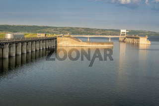 dam and power plant on Missouri River