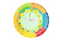 Colorful child handwork clock