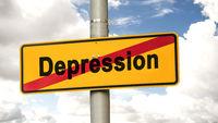 Street Sign Motivation versus Depression