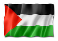 Palestinian flag isolated on white