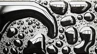 Amazing shape of rain drop