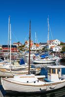 Harbor in Mollosund on the Swedish west coast
