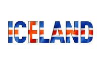 iceland flag text font