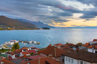 Ohrid lake Old Town Macedonia