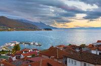 Ohrid lake Old Town Macedonia