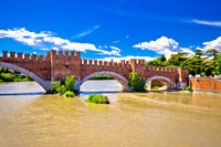Castelvecchio Bridge on Adige river in Verona