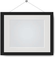 Picture Frame Isolated White Background