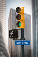 Street Sign Earn Money