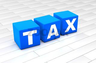 Tax word illustration