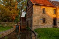historische Mittelmühle in Hoym Sachsen Anhalt