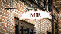 Street Sign to Bank