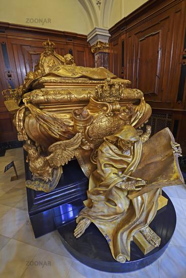 Prunksarg von Adreas Schlüter für Königin Sophie Charlotte, Berl
