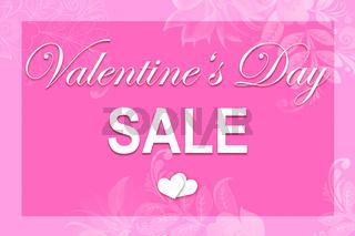 Pink illustration Valentine's card