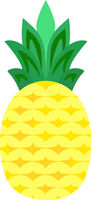 Pineapple Fruit Vector Isolated