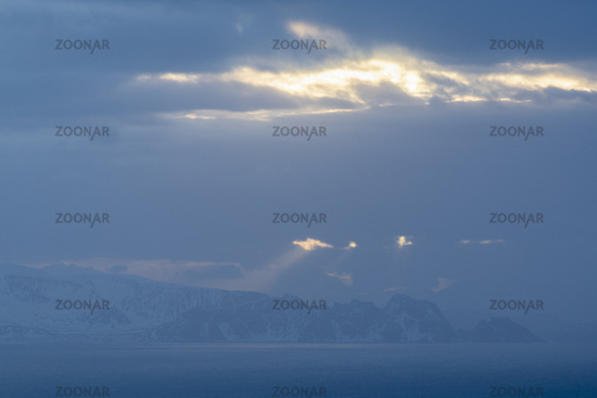 Abendstimmung, Barentssee, Soeroeya, Finnmark