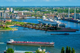 View of Rotterdam city