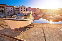 Village of Sali on Dugi Otok island colorful morning harbor view