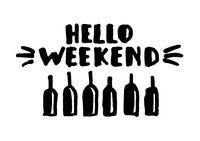 Hello weekend! - Lettering