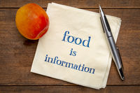 Food is information note on napkin