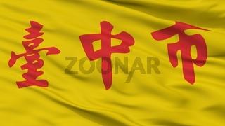 Taichung City Flag, China, Closeup View