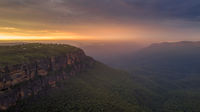 Sunrise over Jamison Valley Blue Mountains
