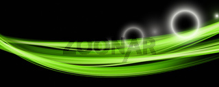 Futuristic eco wave panorama background design with lights