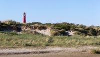 Old lighthouse on the dutch isle Schiermonnikoog