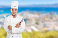 Cook cooking young man male job copyspace copy space